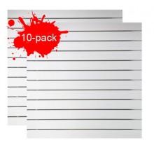 Spårpanel Vit 10-pack inkl. aluskenor